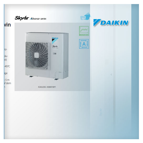 daikin klima rzasg100my1 r 32 einzel twin triple doppel twin au enger t skyair 9 5 10. Black Bedroom Furniture Sets. Home Design Ideas
